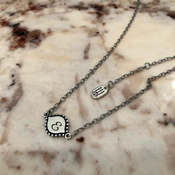 James Avery Memoir Initial Necklace Letter E